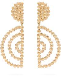 Chloé Oversized Gold Tone Drop Earrings - Metallic