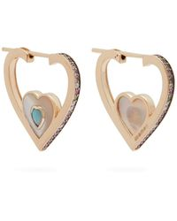 Noor Fares - Anahata Diamond & 18kt Gold Earrings - Lyst