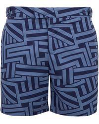 Frescobol Carioca - Geometric-print Swim Shorts - Lyst