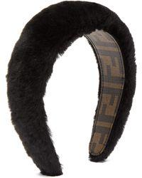 Fendi Faux Fur Headband - Black
