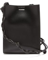 Jil Sander Tangle Small Braided-strap Leather Shoulder Bag - Black