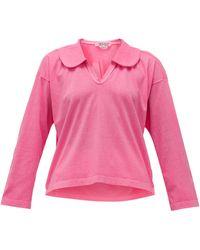 Comme des Garçons Comme Des Garçons Comme Des Garçons ピーターパンカラー コットンジャージーシャツ - ピンク