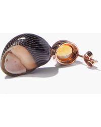 Dezso by Sara Beltran Citrine & 18kt Rose-gold Single Earring - Metallic