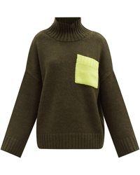JW Anderson パッチポケット タートルネックセーター - グリーン