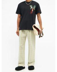 JW Anderson ラディッシュ コットンtシャツ - ブラック