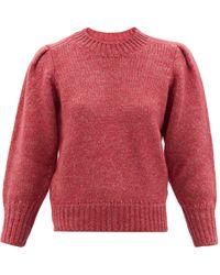 Isabel Marant エマ パフスリーブ セーター - ピンク