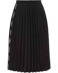 Vetements ロゴジャカード プリーツキャンバススカート - ブラック