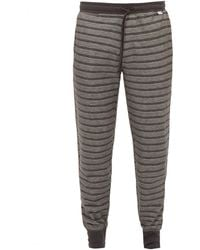 Paul Smith Striped Cotton Pyjama Pants - Gray
