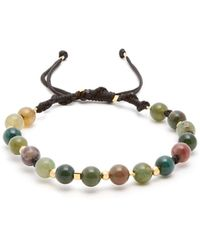 Black Dakini - Moss-agate And Gold-vermeil Bracelet - Lyst