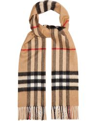Burberry - Giant Cashmere Check Scarf - Lyst