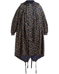 Undercover Floral Print Hooded Cotton Parka