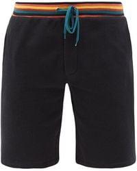 Paul Smith Artist-stripe Cotton-jersey Pajama Shorts - Multicolor