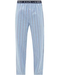 Polo Ralph Lauren ポール ストライプコットン パジャマパンツ - ブルー