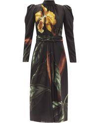 Johanna Ortiz ミーニングフル オポテュニティ リサイクルジョーゼットドレス - ブラック