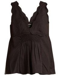 Isabel Marant - Wigston Cotton Sleeveless Top - Lyst
