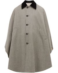 Gucci Houndstooth Wool Cape - Multicolour