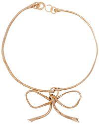 Sonia Boyajian Audrey Bow Tie Bronze Necklace - Metallic