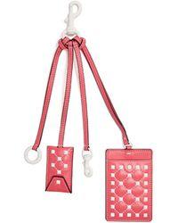 Valentino - Free Rockstud Leather Cardholder Key Ring - Lyst