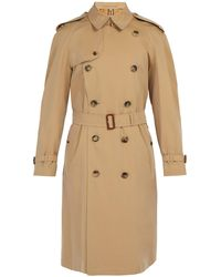 Burberry Westminster Double-breasted Gabardine Trench Coat - Natural