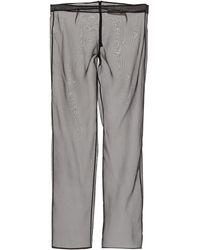 Ludovic de Saint Sernin Pantalon transparent en soie - Noir