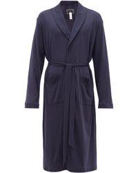 Hanro Night & Day Cotton-jersey Robe - Blue