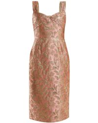Prada - All Designer Products - Sweetheart-neck Floral-brocade Dress - Lyst