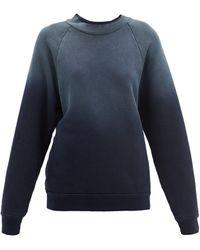 Les Tien - オンブレ ブラッシュドバックコットンスウェットシャツ - Lyst