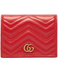 Gucci GG Marmont Card Case - Red