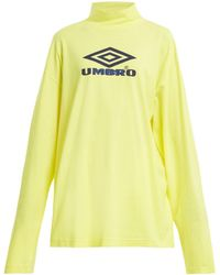 Vetements - X Umbro Long Sleeved Cotton Jersey Top - Lyst