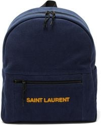 Saint Laurent コーデュロイバックパック - ブルー