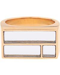 Aurelie Bidermann | Bianca Yellow Gold-plated Mirror Ring | Lyst