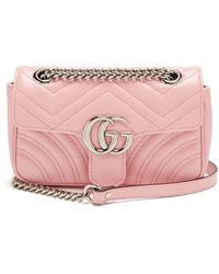 Gucci - GG Marmont Mini Quilted-leather Cross-body Bag - Lyst