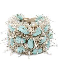 Toga - Bead And Turquoise Embellished Bracelet - Lyst