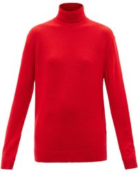 Jil Sander Roll-neck Wool Jumper - Red