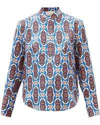 La DoubleJ - ポルトフィーノ プリント シルクツイルシャツ - Lyst