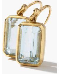 Irene Neuwirth ダイヤモンド&アクアマリン 18kゴールドピアス - メタリック