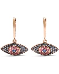 Ileana Makri - Sapphire, Rodolites & Pink-gold Earrings - Lyst
