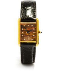 Jacquie Aiche Vintage Cartier Tank Diamond & Gold-vermeil Watch - Metallic