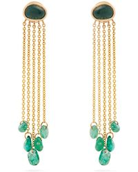 Jade Jagger | Emerald & Yellow-gold Earrings | Lyst