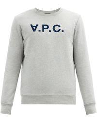 A.P.C. - Vpcロゴ コットンスウェットシャツ - Lyst
