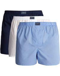 Polo Ralph Lauren Pack Of Three Cotton Boxer Briefs - Blue