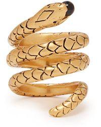Saint Laurent - Serpent Wrap Ring - Lyst