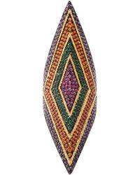 Lynn Ban - Prism Sapphire, Amethyst & Rhodium Plated Ring - Lyst
