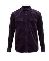 Ralph Lauren Purple Label スチュワート コットンコーデュロイシャツ - ブルー