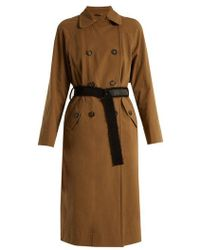 Brunello Cucinelli - Double-breasted Cotton-gabardine Trench Coat - Lyst