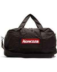 Moncler Logo Embroidered Holdall - Black