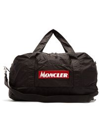 Moncler Logo-embroidered Holdall - Black