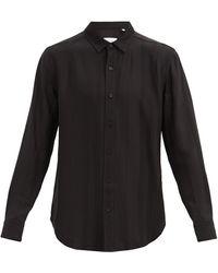 Equipment ストライプ ジャカードシャツ - ブラック