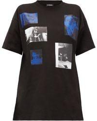Raf Simons T-shirt en jersey de coton à imprimé Blue Velvet - Noir