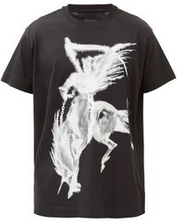 Givenchy ゴシックプリント コットンtシャツ - ブラック